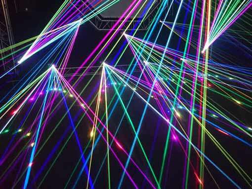 Image of lasers to illustrate connectivity in translation services