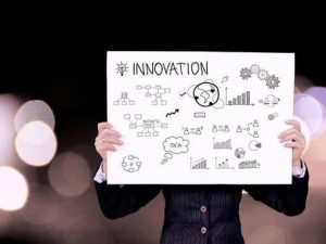 Image of a language board saying innovation to illustrate translation of marketing materials uk
