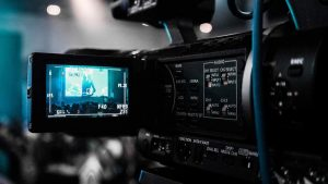 Image of camera. Voiceover and transcription translators UK