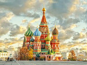 St Basil Cathedral, Moscow, to show that we translate to and from the russian language